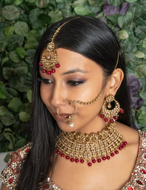 Simple Pearl Naat or Indian Nose Ring