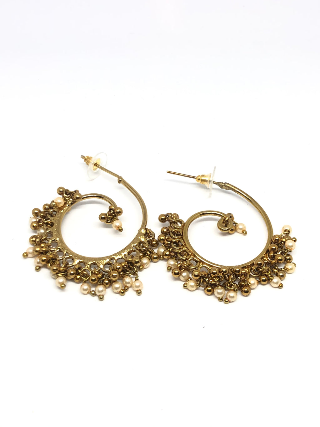 Pearl & Gold Indian Hoops