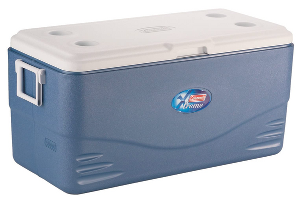 Coleman 100-quart beverage and food cooler for camping
