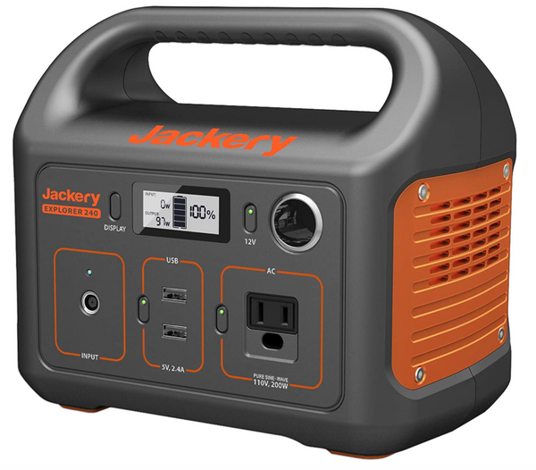 Jackery Power Bank and station to charge phone and laptop