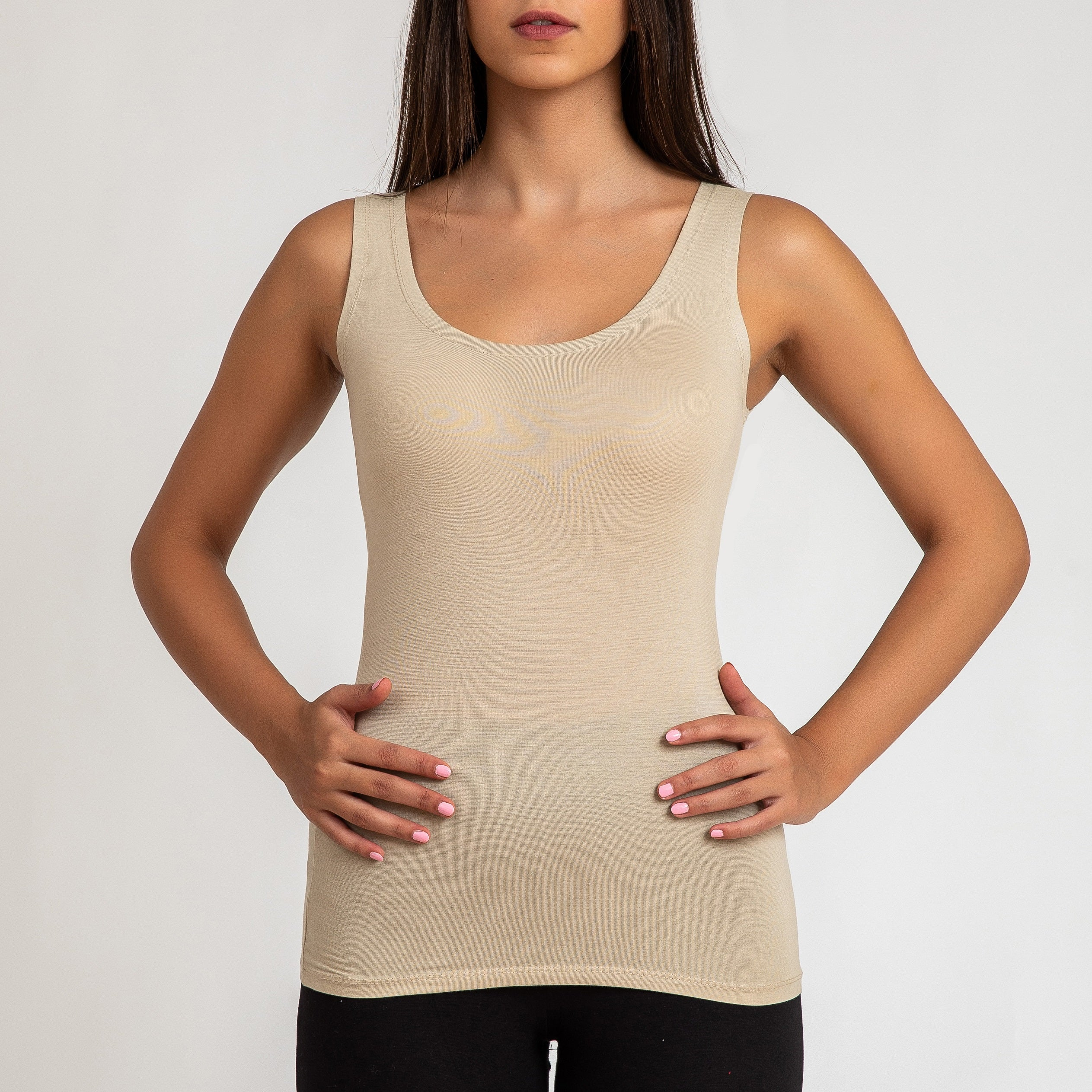 Womens' Thick Strap Viscose Vest