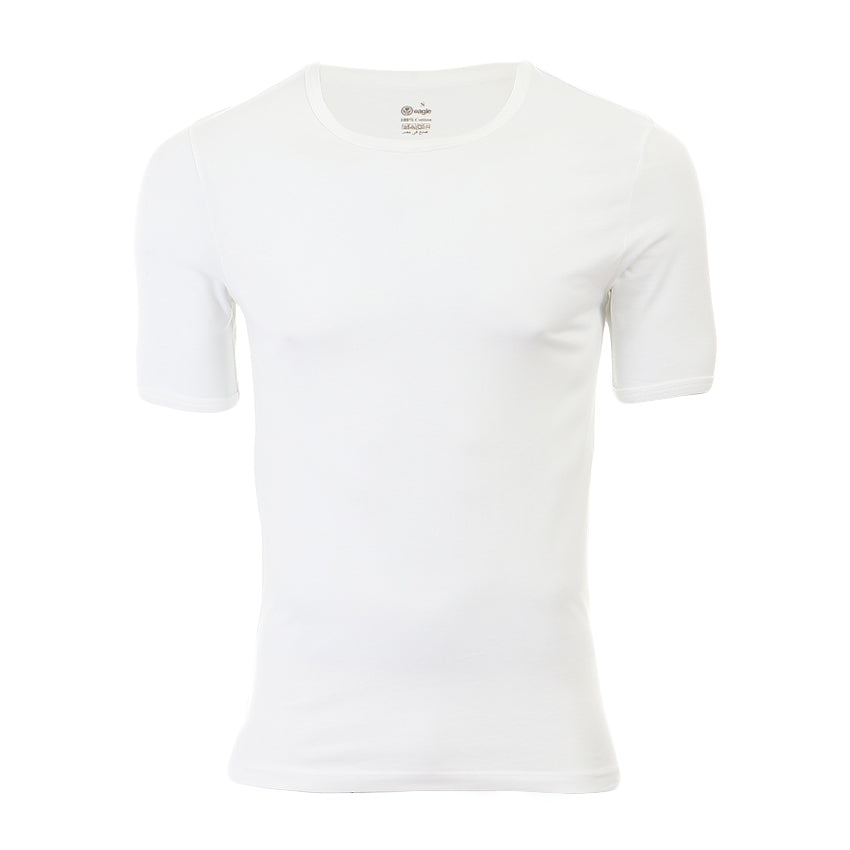 Front View of White Undershirt
