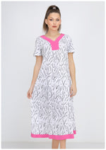 Load image into Gallery viewer, Short Sleeve V kneck Scribble Printed Homedress