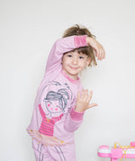 Load image into Gallery viewer, Girls Cute Ballerina Print PJ