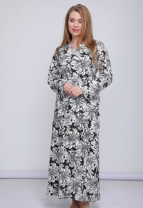 Long Sleeve All Over Print Nighgown