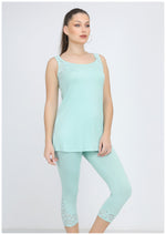 Load image into Gallery viewer, Cut Sleeve Plain Capri LoungeSet