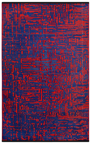 Cosmopolitan Red And Navy Rug