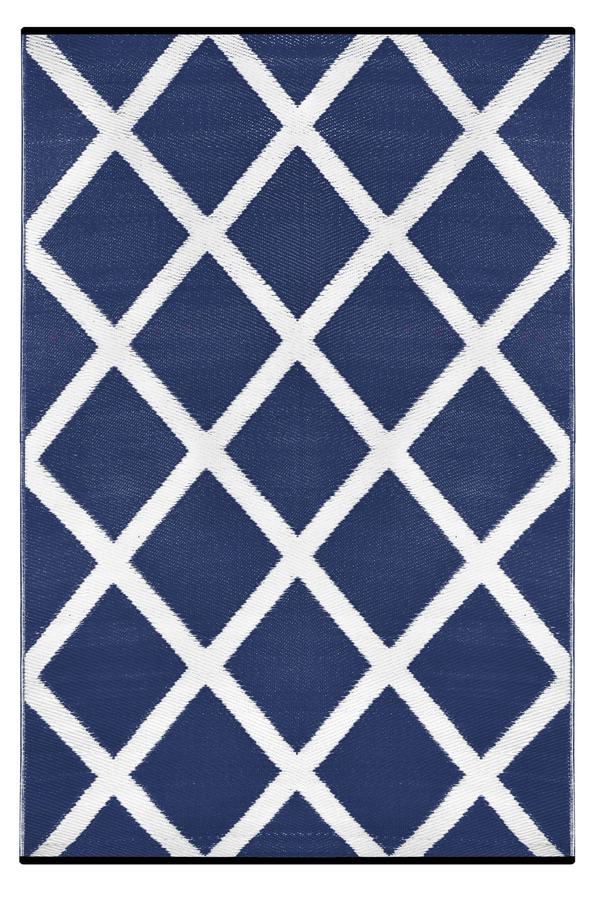 navy blue and white indoor outdoor rug - green decore