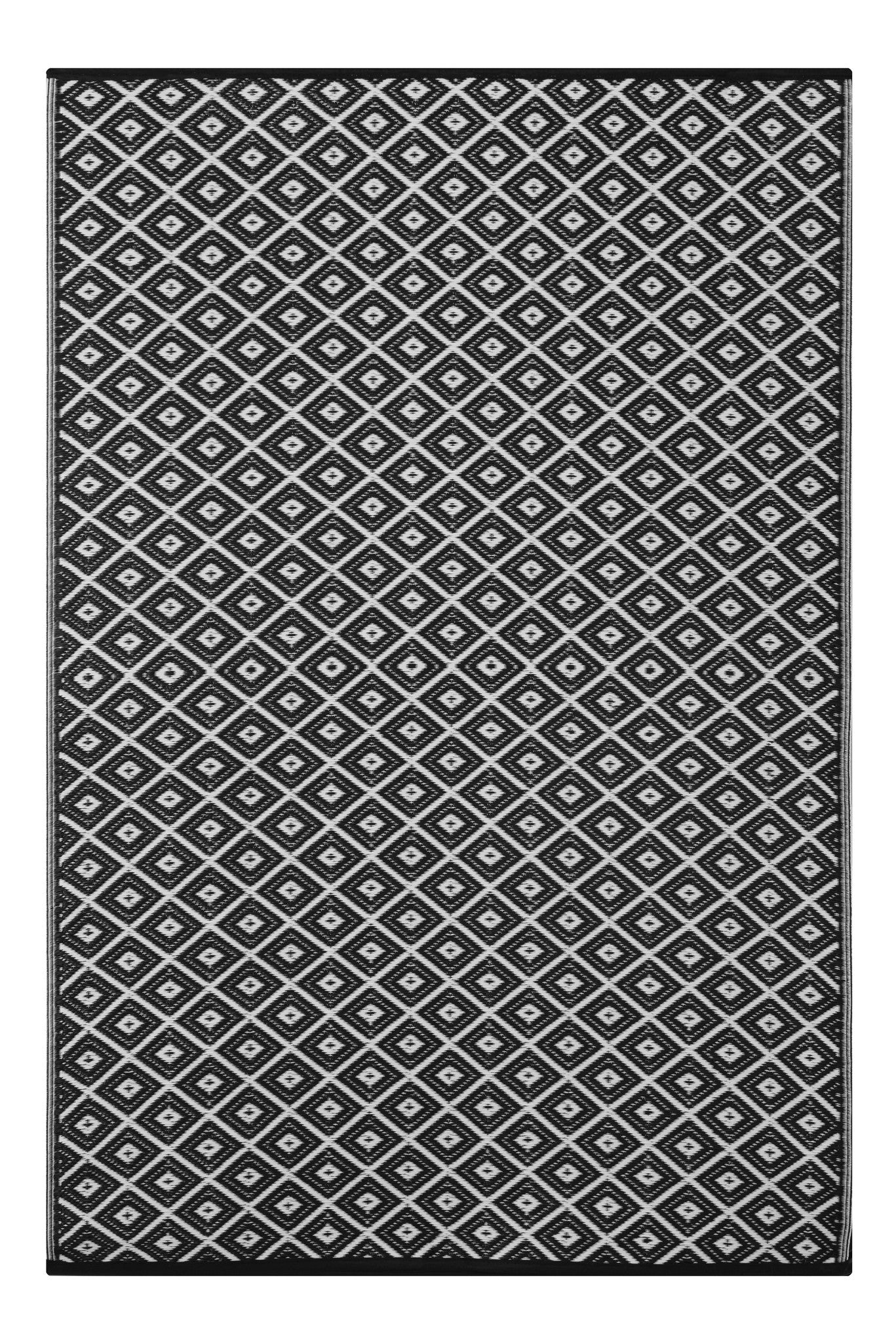 Black and white Indoor Outdoor Rug Green Decore