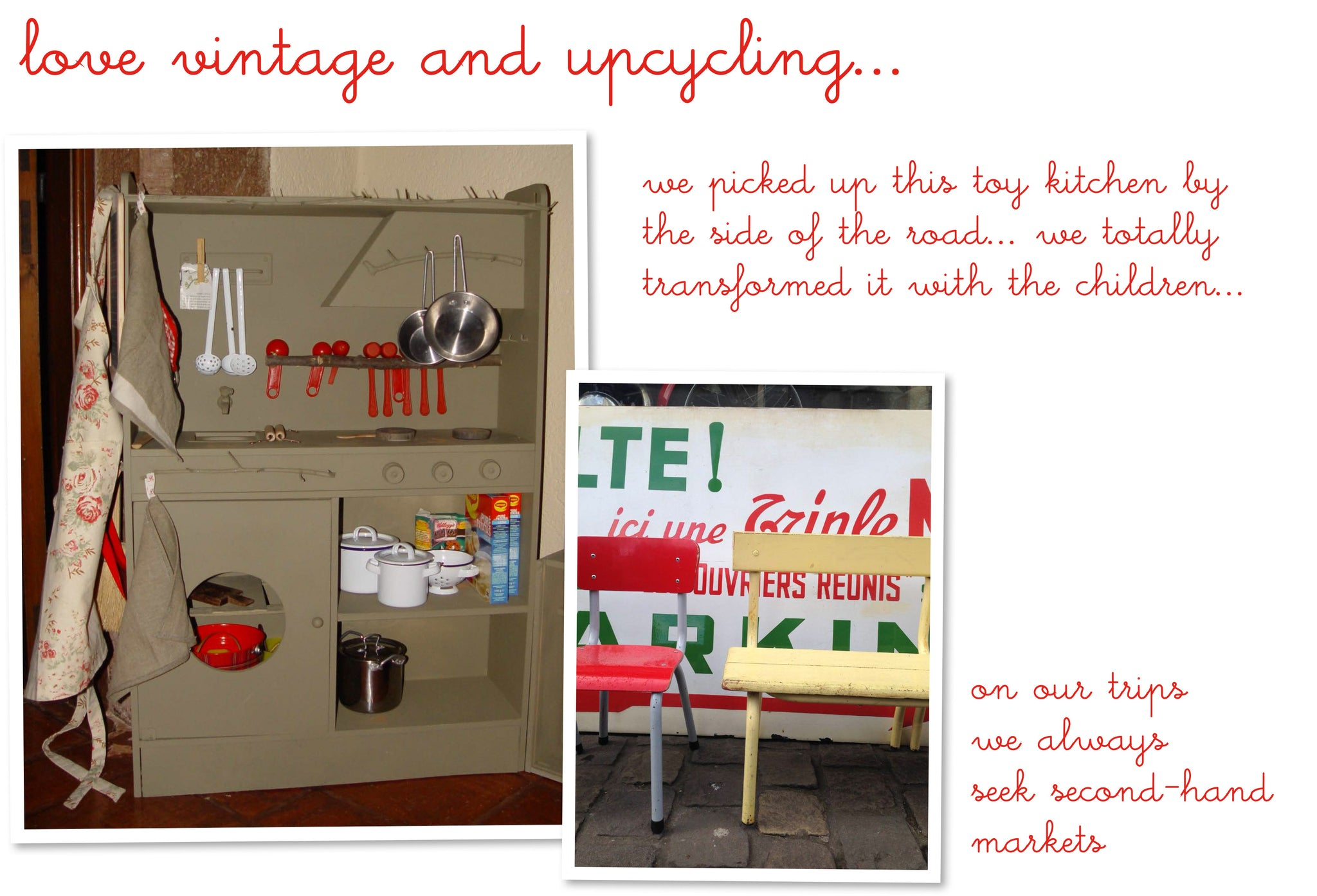 vintage and upcycling
