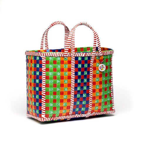 asian woven basket - medium