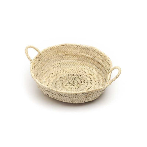shallow woven basket - medium