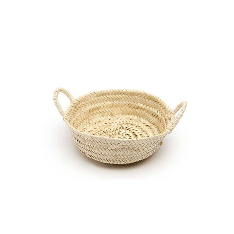 shallow woven basket - small