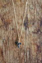 Load image into Gallery viewer, Gold Shark Tooth Necklace