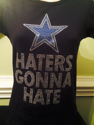 Cowboys Haters Gone Hate Rhinestone T-Shirt