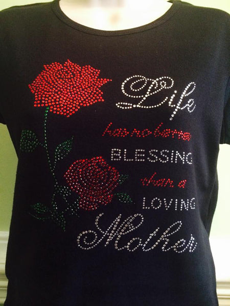 Mother's Day Rhinestone T-shirt