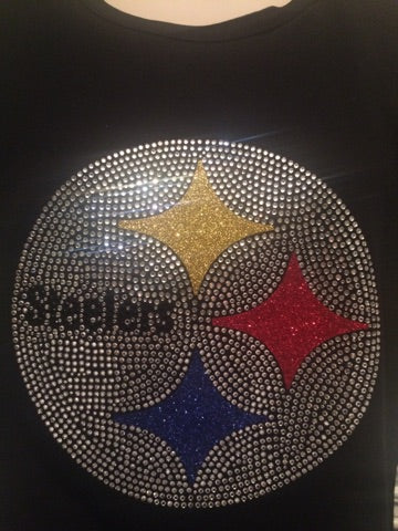 Pittsburgh Steelers Rhinestone T-shirt