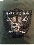 Oakland Raiders Rhinestone T-shirt design