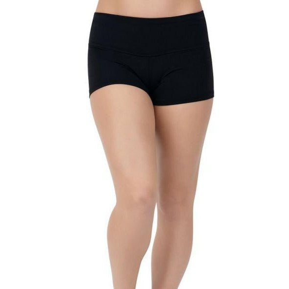 CAPEZIO ATB130 GUSSET SHORT WITH WIDE WAISTBAND