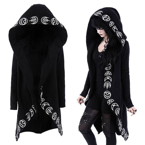Long Witch Hoodie - My Goth Closet