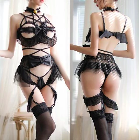 Pentagram Devil Lingerie Set - My Goth Closet