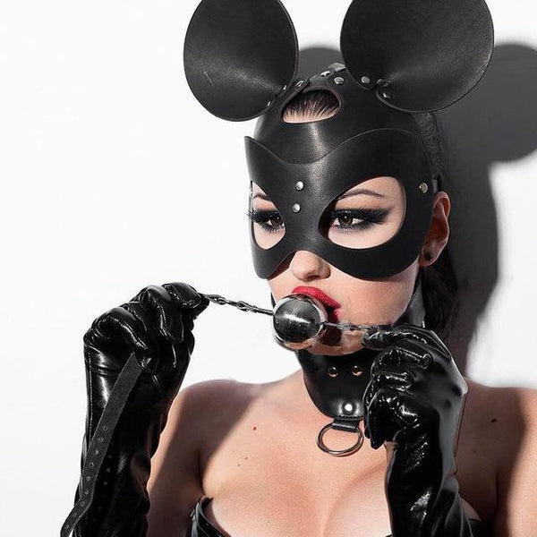 Mouse Leather Mask