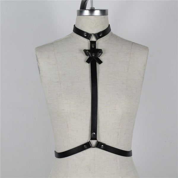 O-Ring Belt Tie Harness - My Goth Closet