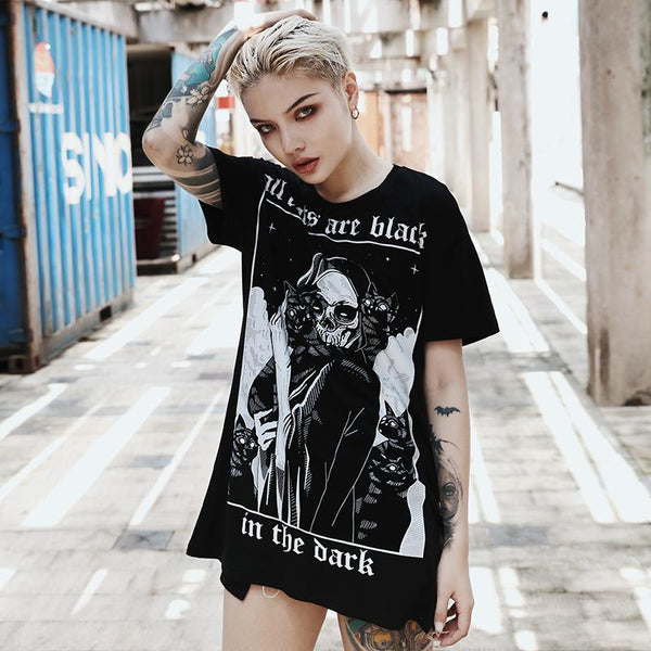 All Cats Are Black T Shirt - My Goth Closet