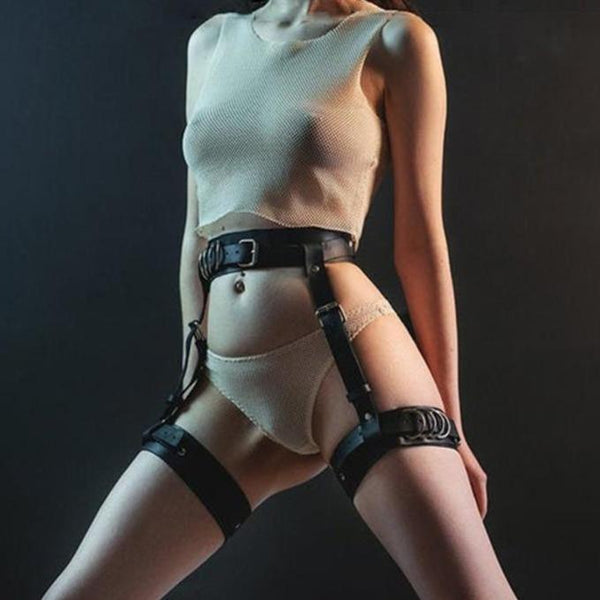 Multiply Belts Harsh Harness - My Goth Closet