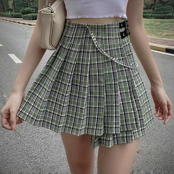 Plaid Chain Harajuku Skirt