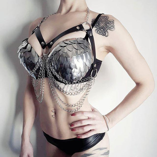 Chain Erotic Goth Harness - Let's Be Gothic, nightwear, clothing, punk, dark