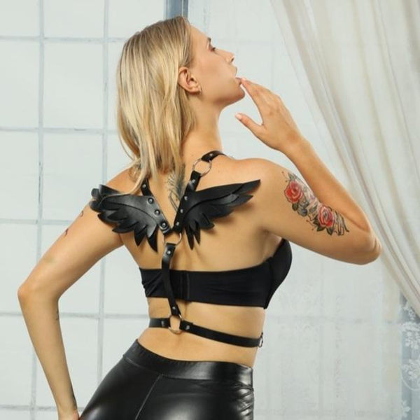 Angel Wings Harness - Let's Be Gothic, nightwear, clothing, punk, dark