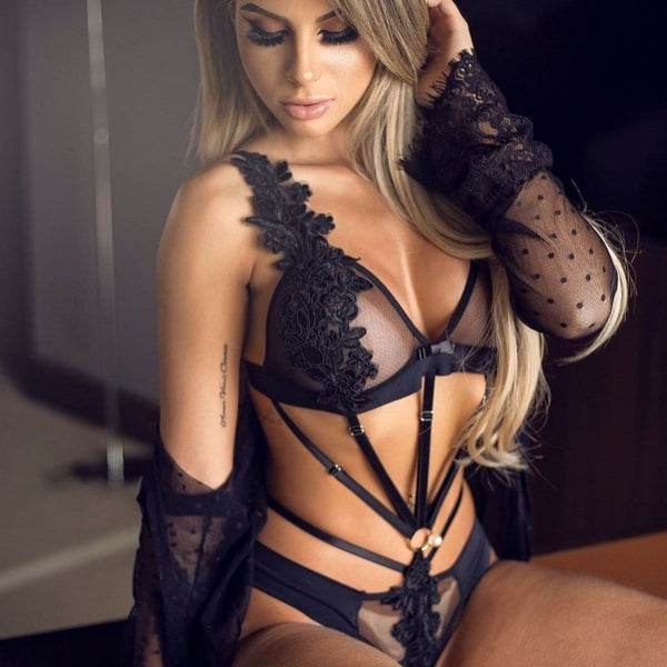 Embroider Straps  Erotic Lingerie