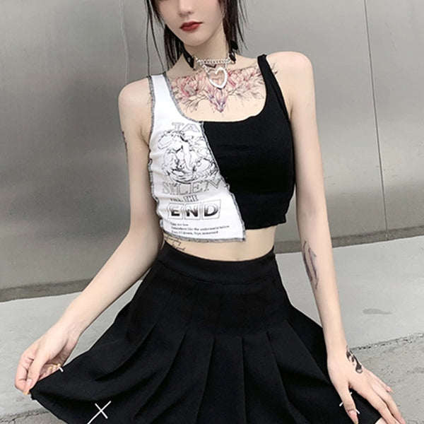 Punk Streetwear Crop Top