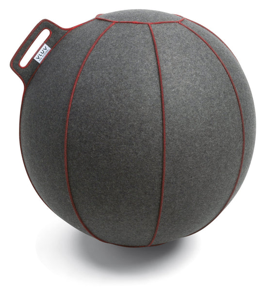 VLUV VELT Felt Seating Ball  - Grey flecked / Red
