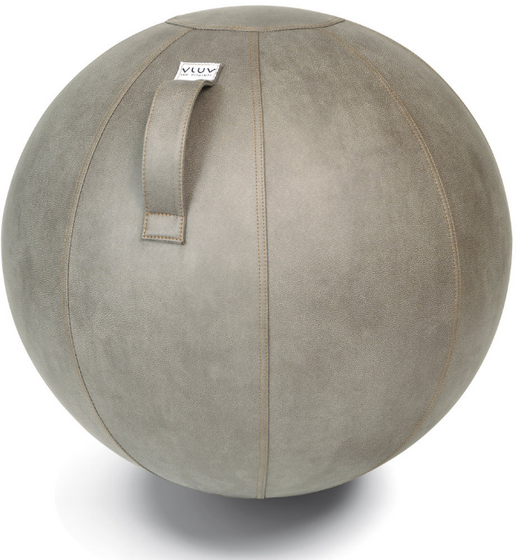 VLUV VEEL Leatherette Seating Ball - Mud Light Grey