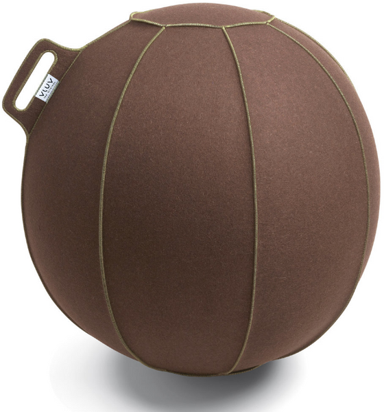 VLUV VELT Felt Seating Ball  - Brown-Flecked / Green
