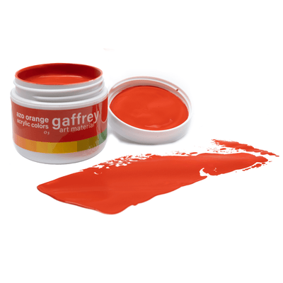Azo Orange Acrylic Paint - gaffrey art material