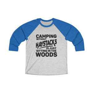 Camping Without Haystacks Baseball Tee - Adventist Apparel