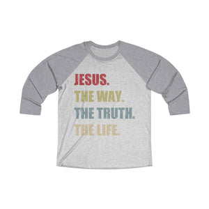 The Way The Truth The Life Baseball Tee - Adventist Apparel