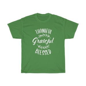 Grateful Thankful Blessed Unisex Tee - Adventist Apparel