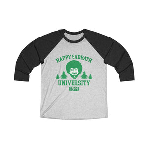 Happy Sabbath University Baseball Tee - Adventist Apparel