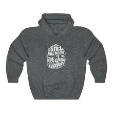 Load image into Gallery viewer, Fall In Love With Jesus Everyday Hoodie - Adventist Apparel