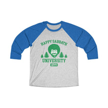Load image into Gallery viewer, Happy Sabbath University Baseball Tee - Adventist Apparel