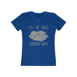 My Cat Takes Sabbath Naps Women's Tee - Adventist Apparel