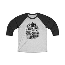 Load image into Gallery viewer, Fall In Love With Jesus Everyday Baseball Tee - Adventist Apparel
