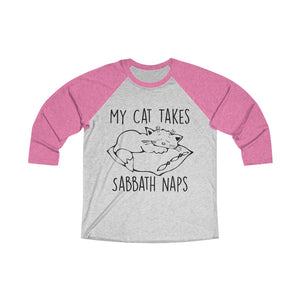 My Cat Takes Sabbath Naps Baseball Tee - Adventist Apparel