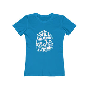 Fall In Love With Jesus Everyday Women's Tee - Adventist Apparel