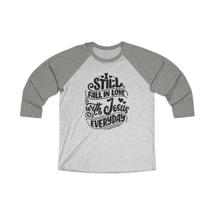 Fall In Love With Jesus Everyday Baseball Tee - Adventist Apparel