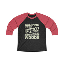 Load image into Gallery viewer, Camping Without Haystacks Baseball Tee - Adventist Apparel